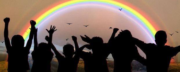 Rainbow Children sillouette